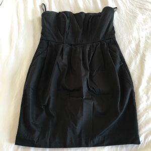 Strapless Sweetheart Little Black Cocktail Dress